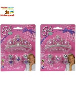 Тиара для принцессы с сережками и перстнем Simba, от 5 лет