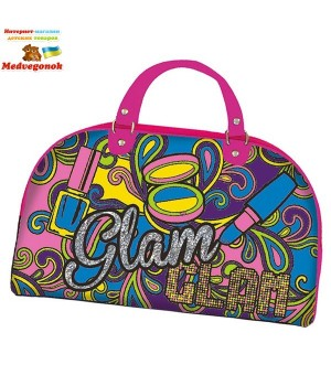 """Детская сумка раскраска color me mine Колор ми майн для девочки """"Розовый гламур"""" на молнии с двумя ручками, 5 маркеров, 33х23 см, Simba, от 6 лет"""