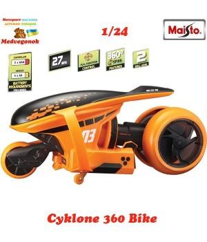 Мотоцикл на пульте управления Cyklone 360 масштаб 1:24 orange MAISTO, от 3 лет