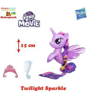 My little pony the movie игрушки из серии Мерцание Твайлат Спаркл, Искорка (Twilight Sparkle) Hasbro, от 3 лет