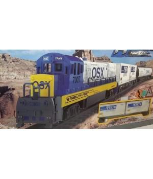 Большая игрушечная железная дорога со светом и звуком, 1612A-1A, Fenfa