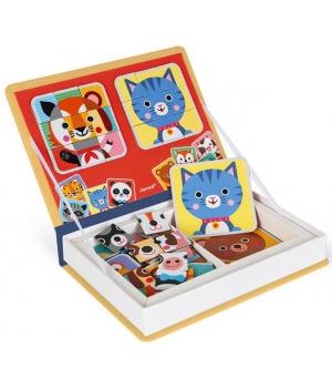 Магнитная книга для детей, животные, Janod