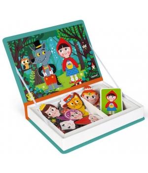 Магнитная книга для детей пазл, сказки, Janod