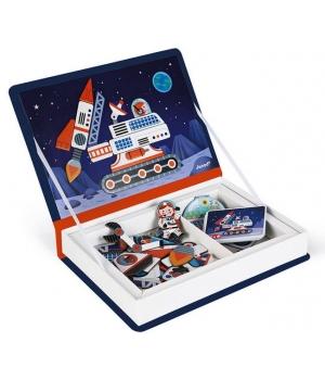 Развивающая магнитная книга для детей, Космос, Janod
