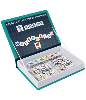 Магнитная игра для изучения английского алфавита для детей, Janod