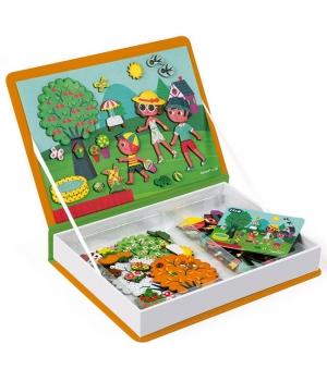 Магнитная обучающая книга для детей, 4 сезона, Janod