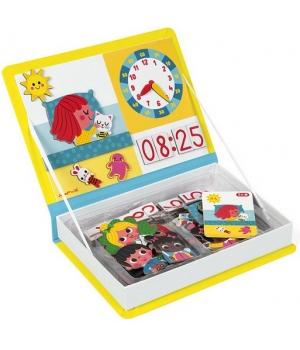 Магнитная обучающая игра определи время по часам для детей, Janod
