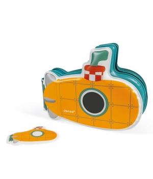 Игрушка для купания в ванне подводная лодка книга, Janod