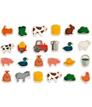 Магниты животные для детей, ферма, Janod
