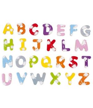 Магнитные буквы для детей, английский алфавит, Janod