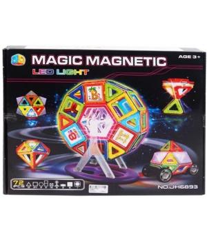 Магнитный конструктор светящийся в темноте, 72 детали, MAGIC MAGNETIC