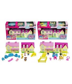 Домик для кукол детский с куколками и мебелью (2 вида)