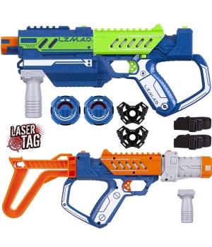 Детское лазерное оружие, делюкс набор (2 бластера, 2 мишени, модули), Silverlit Lazer M.A.D