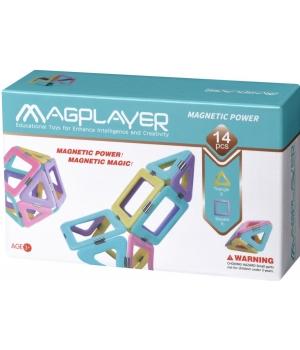 Магнитный конструктор треугольники квадраты, 14 шт, MagPlayer