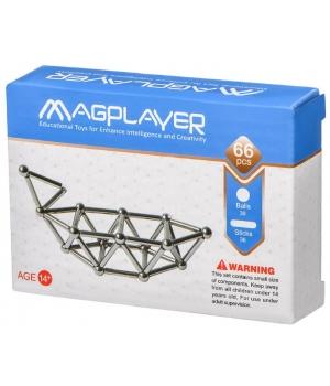Конструктор магнитный палочки и шарики, 66 элементов, MagPlayer