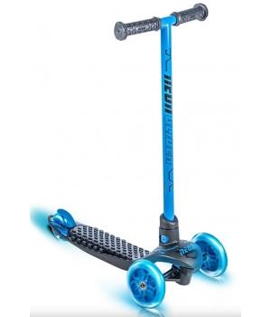 Самокат трехколесный детский со светящимися колесами, синий, NEON Glider