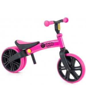 Беговел для детей от 2 лет, розовый для девочки, YVolution Yvelo Junior