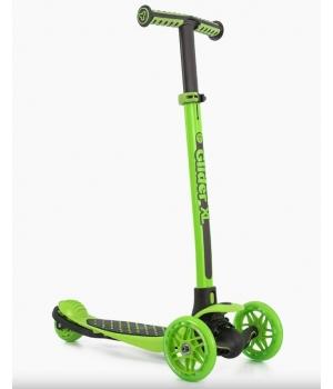 Самокат трехколесный для детей от 3 лет, YVolution YGlider XL Зеленый