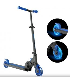Складной детский самокат двухколесный, колеса с подсветкой, от 5 лет, NEON Vector