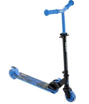Складной детский самокат двухколесный, колеса с подсветкой, синий, от 5 лет, NEON Vector