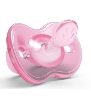 Пустышка с рождения ортодонтическая, розовая, Orthosoft Light, Nuvita