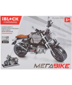 Конструктор мотоцикл, 262 детали, IBLOCK PL-920-189