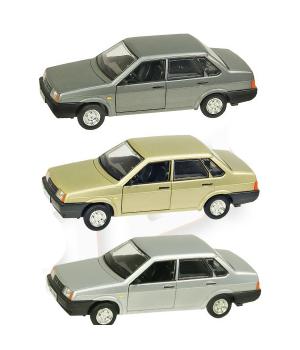 Машинка Жигули ВАЗ-21099 коллекционная модель Lada 21099 металлическая, 1:22 (3 цвета), Автопром