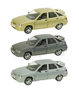 Машинка Жигули ВАЗ-2112 коллекционная модель Lada 2112 металлическая, 1:22 (3 цвета), Автопром