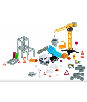 Игрушечный строительный подъемный кран с машинками, DRIVEN
