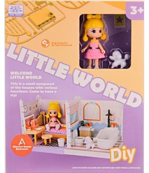 Дом для кукол (куколка с собачкой, мебель), Little World