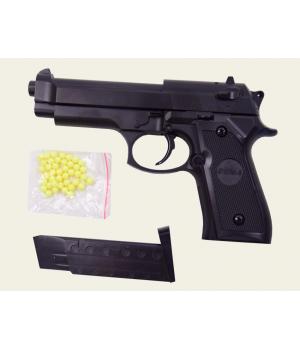 Игрушечный металлический пистолет на пластиковых пульках 6мм, ZM18, CYMA