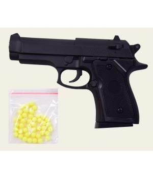 Игрушечный металлический пистолет на пластиковых пульках 6мм, ZM21, CYMA