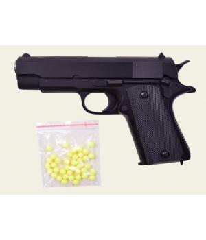 Игрушечный металлический пистолет на пластиковых пульках 6мм, ZM22, CYMA