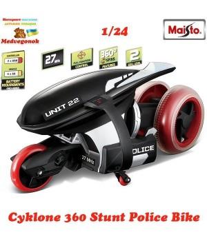 Мотоцикл на радиоуправлении Cyklone 360 масштаб 1:24 black MAISTO, от 3 лет