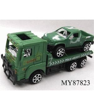 Военная машина игрушка грузовик с джипом, фрикционный механизм, MAYA TOYS, от 3 лет