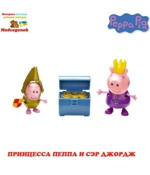 Свинка Пеппа принцесса игрушка ПРИНЦЕССА ПЕППА И СЭР ДЖОРДЖ Peppa, от 3 лет