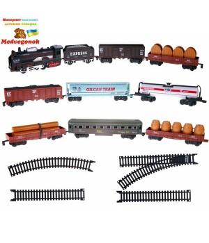 Детский набор Железная дорога с 9 вагонами BIG MOTORS, от 3 лет
