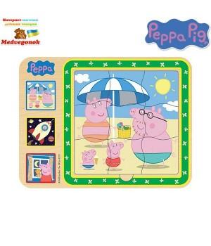 Пазлы для детей свинка Пеппа Добрый мир Пеппы, от 3 лет
