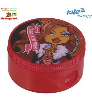 Точилка з контейнером круглая Monster High, Kite, от 5 лет