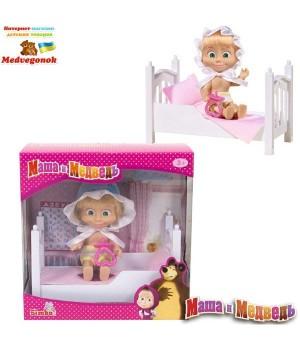 Кукла Маша Спокойной ночи с кроваткой, 12 см, Simba, от 3 лет