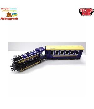 Паровоз игрушка с вагоном Технопарк, от 3 лет