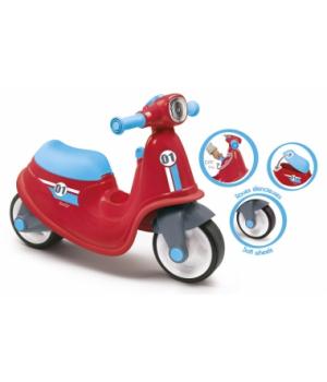 Беговел скутер для детей, красный, Smoby