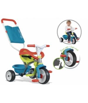 740401 Дитячий металевий велосипед Бі Mуві з багажником та сумкою-конвертом, блакитний, 10міс.+