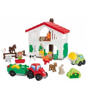 """3021 Конструктор """"Фермерський будинок"""", з трактором та навантажувачом, фігурками, 18 міс.+"""