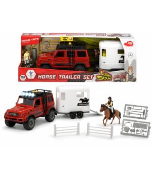 3838002 Ігровий набір Плейлайф. Перевезення коней з позашляховиком, зі зв. та св. еф., фігурками, акс., 3+