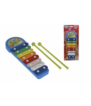 Музыкальный инструмент детский ксилофон Веселые ноты, 28 см, Simba