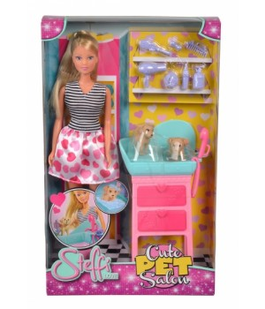 Кукольный набор с собачками Салон красоты, Simba