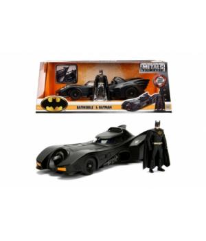 """253215002 Машина металева Jada """"Бетмен (1989)"""" Бетмобіль з фігуркою Бетмена, масштаб 1:24, 8+"""