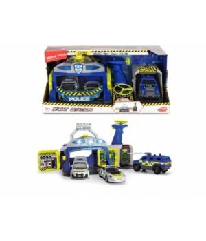 """3717004 Ігровий набір """"Станція SWAT """" з 3 машинами та пускачем дронів, зі звук. та світл. еф. 3+"""
