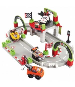 """003006 Конструктор """"Трек. Гран Прі"""", з 4 машинами та 1 героєм, 18 міс.+"""